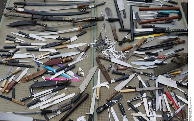 Knife and gun crime is on the rise across Britain - ©2017 INS Picture Desk/INS News Agency Ltd