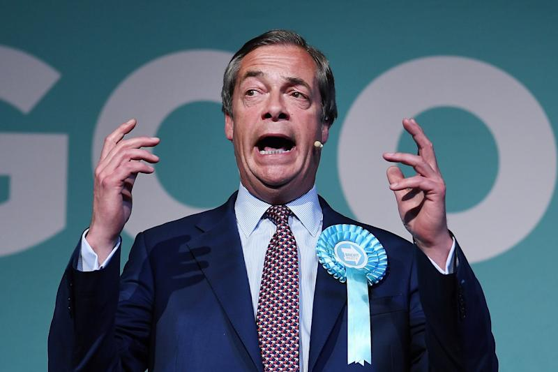 Brexit Party leader Nigel Farage (EPA)