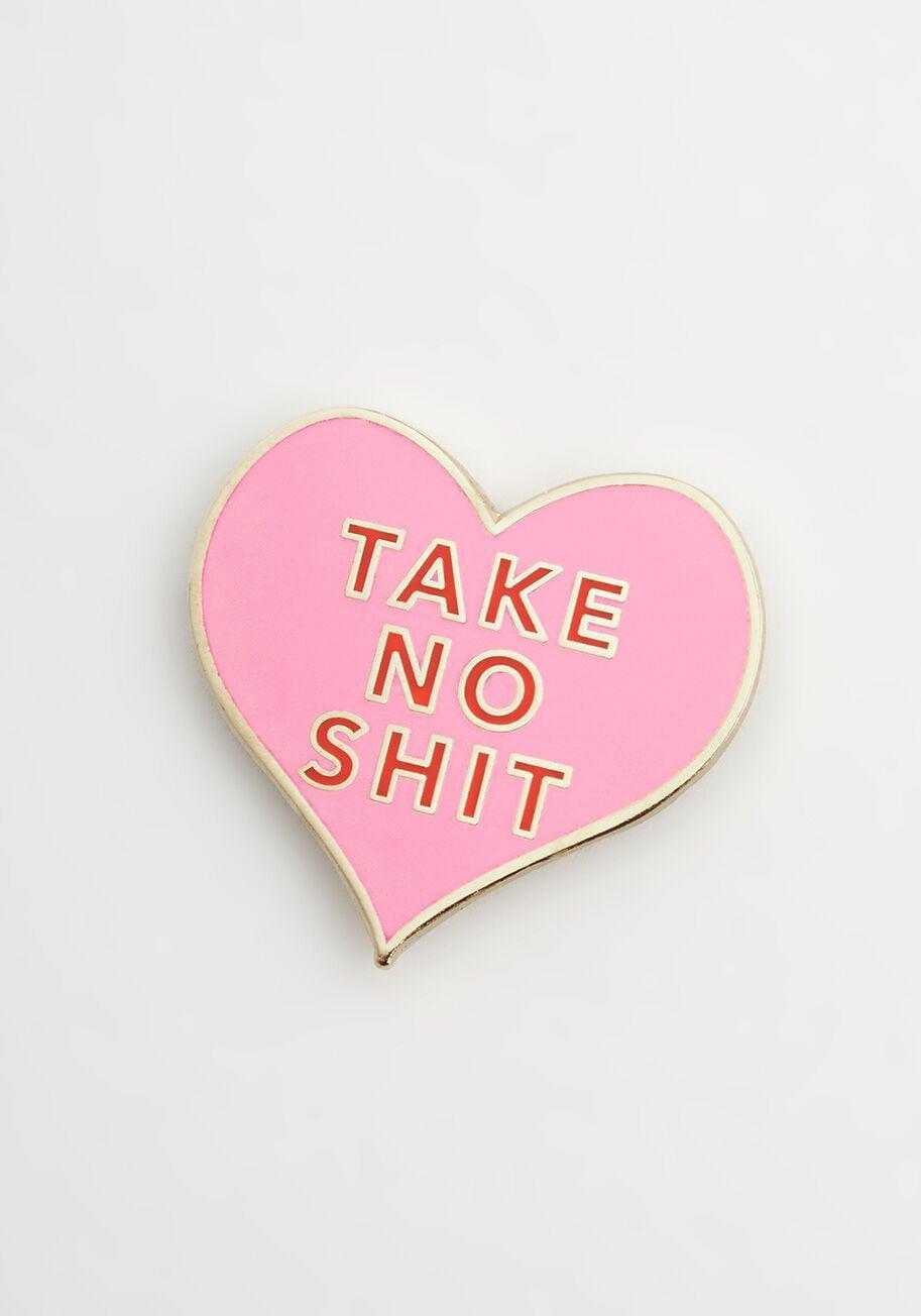 <p>Wear your heart on your sleeve with this <span>I Do Declare Pin</span> ($15).</p>
