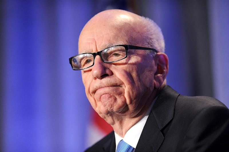 FILE - In this Oct. 14, 2011 file photo, News Corp. CEO Rupert Murdoch delivers a keynote address at the National Summit on Education Reform in San Francisco. If the phone hacking scandal gripping Rupert Murdoch's News Corp. empire has a familiar ring, it might be because you've heard the story before. Scrappy outsider turns modest newspaper business into international media conglomerate. Ambition turns to hubris. Mogul dramatically falls from grace. (AP Photo/Noah Berger, File)