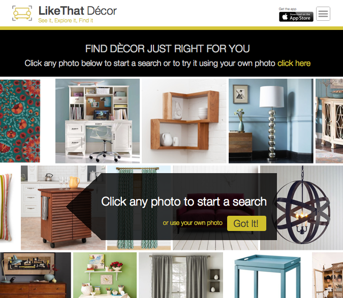 LikeThat Décor homepage