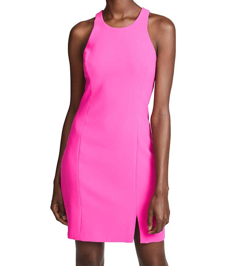 Hot pink scoop neck dress. (Photo: Amanda Uprichard/Shopbop)