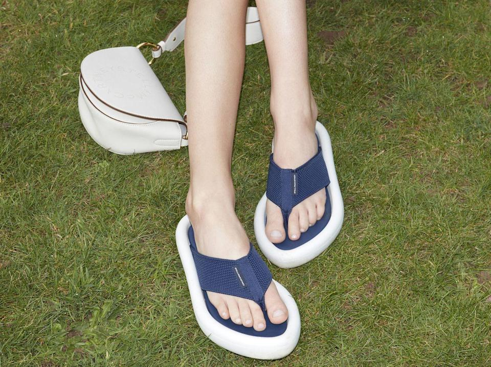 <p>These flip-flops are the ultimate TBT; plus, they'll keep your feet comfy and ready for a hot summer day. </p><p><em>Stella McCartney</em></p>