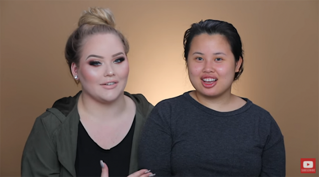 Nikkie Tutorials and Kim Thai before the transformation. (Photo: Nikkie Tutorials via YouTube)