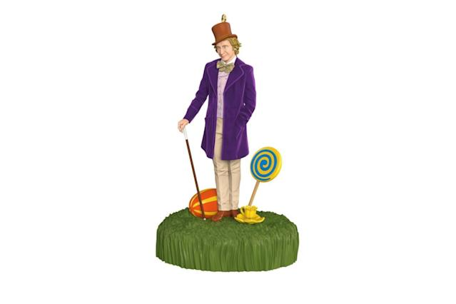 "<p>The only place that might be more amazing than Santa's workshop is Willy Wonka's chocolate factory, so re-live the magic (and weird moments) with this talking figurine inspired by Gene Wilder's performance. <strong><a href=""https://www.hallmark.com/ornaments/keepsake-ornaments/willy-wonka-and-the-chocolate-factory-sound-ornament-1795QXI2985.html"" rel=""nofollow noopener"" target=""_blank"" data-ylk=""slk:Buy here"" class=""link rapid-noclick-resp"">Buy here</a></strong> </p>"