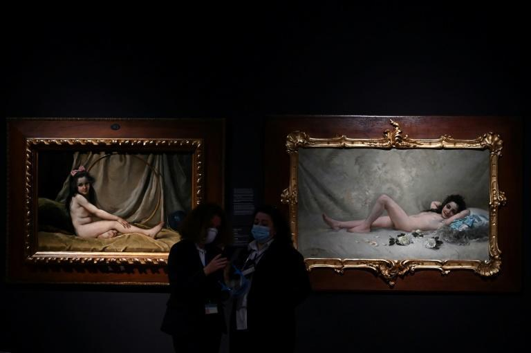 Young models were forced to pose naked for painters during that era said curator Carlos Navarro