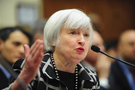 "Federal Reserve Chair Janet Yellen testifies before a House Financial Services Committee hearing on ""Monetary Policy and the State of the Economy."""