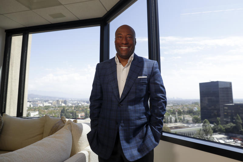 Comedian and media mogul Byron Allen poses for a picture Thursday, Sept. 5, 2019, in Los Angeles. The Supreme Court will hear arguments Nov. 13 in a $20 billion lawsuit Allen filed against Comcast, with the outcome also affecting a $10 billion case he filed against Charter Communications. If Allen wins, it will become easier for black-owned businesses to bring and win civil rights lawsuits like his that allege discrimination in contracting. (AP Photo/Chris Carlson)