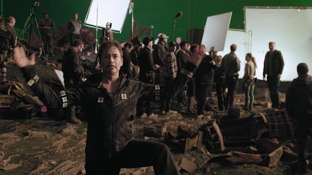 "<p>On May 2, Downey toured the set in a video for the charity site Omaze, which offered one lucky winner lunch at Atlanta's Pinewood Studios where the Marvel Cinematic Universe is based. (Photo: <a href=""https://www.omaze.com/experiences/robert-downey-jr-avengers-set-visit"" rel=""nofollow noopener"" target=""_blank"" data-ylk=""slk:Omaze"" class=""link rapid-noclick-resp"">Omaze</a>) </p>"