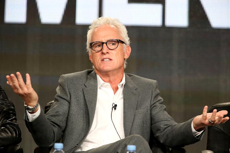 Actor John Slattery speaks onstage during the 'Mad Men' panel at the AMC portion of the 2015 Winter Television Critics Association press tour at the Langham Hotel on January 10, 2015 in Pasadena, California (AFP Photo/Frederick M. Brown)