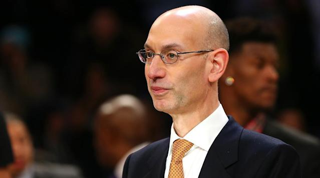 "NBA commissioner Adam Silver encouraged people attending the Sports Business Awards ""not to stick to sports."" Silver was accepting the trophy for League of the Year when he made the comments."