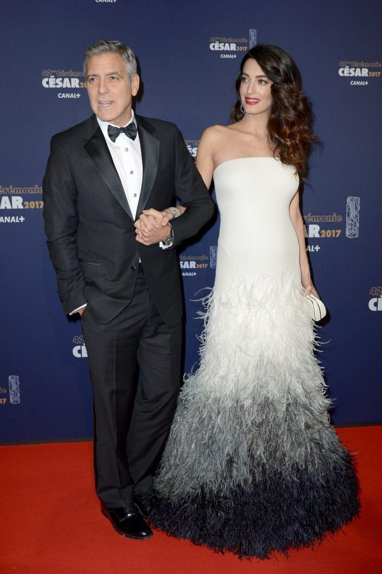 <i>Amal Clooney made her pregnant red carpet debut on Friday [Photo: Getty]</i>