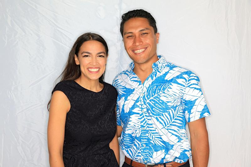 Democrat Alexandria Ocasio-Cortez, left, and congressional candidate Kaniela Ing stand for a portrait before a campaign event in Honolulu, Hawaii, U.S., August 9, 2018: REUTERS