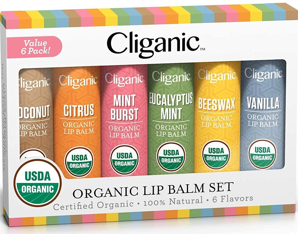 <p>You can never have enough lip balm in the winter time and the <span>Cliganic Lip Balm Set</span> ($8, originally $10) is amazing!</p>