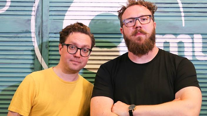 Tom Gray (left) and Ben Ottewell of the band Gomez