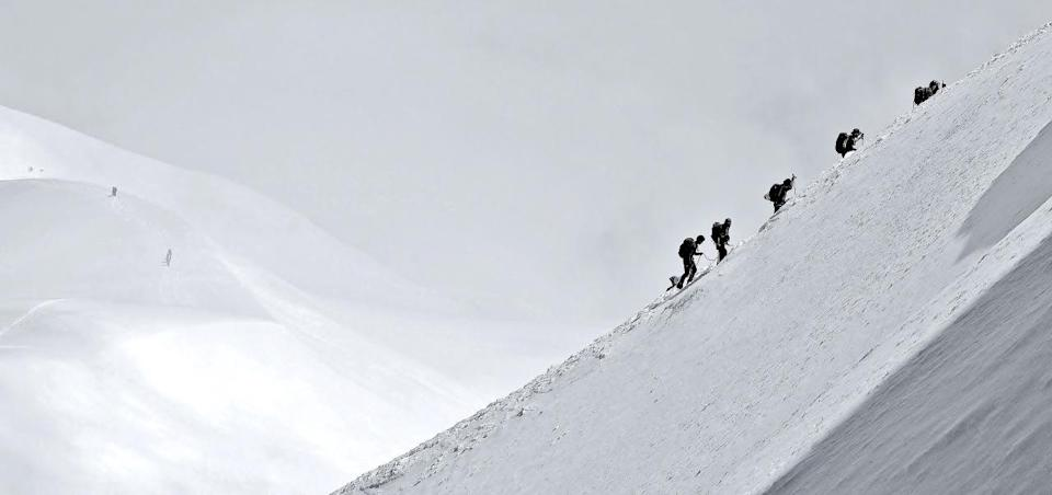 <p>Its name translates literally as White Mountain - and for good reason. At an elevation of 15,776ft, Mont Blanc is a thick ice and snow dome, and is a mecca for climbers. Lower down, the Mont Blanc Massif mountain range is a hit with skiers and snowboarders - so grab your warmest gear and get over there in winter. (Photo: Flickr / Alain M)</p>