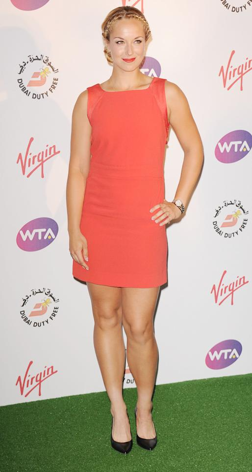 LONDON, UNITED KINGDOM - JUNE 21: Sabine Lisicki attends the Pre-Wimbledon Party at Kensington Roof Gardens on June 21, 2012 in London, England. (Photo by Stuart Wilson/Getty Images)