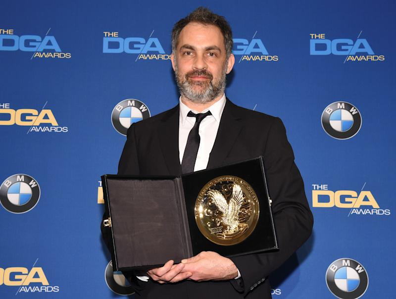 "Miguel Sapochnik, winner of the Dramatic Series award for his work on Game of Thrones, ""The Battle of the Bastards"" poses for photographers at the 69th annual DGA Awards in Beverly Hills, California, U.S. February 4, 2017. REUTERS/Phil McCarten"