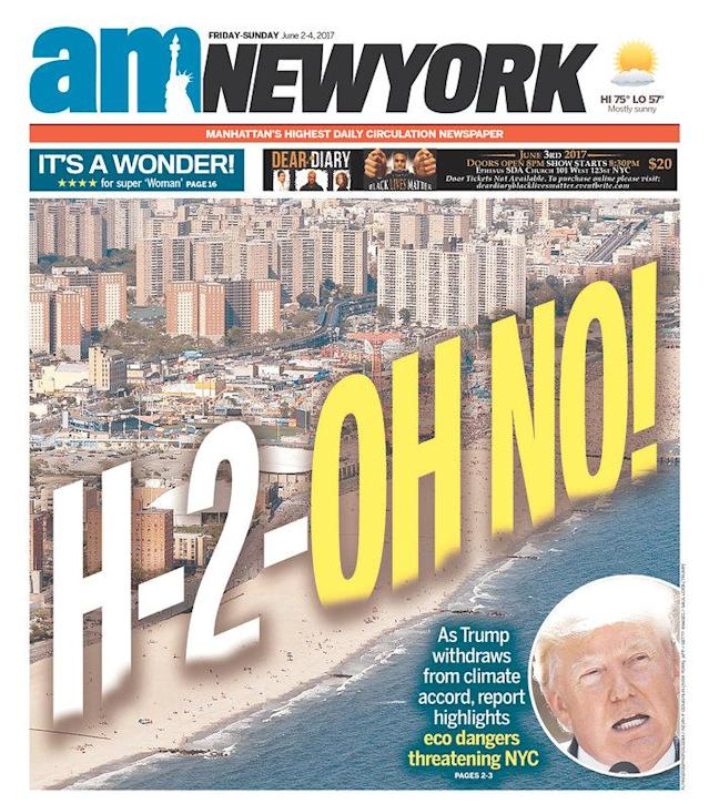 "<p>""AM New York,"" published in New York, N.Y. (Newseum) </p>"