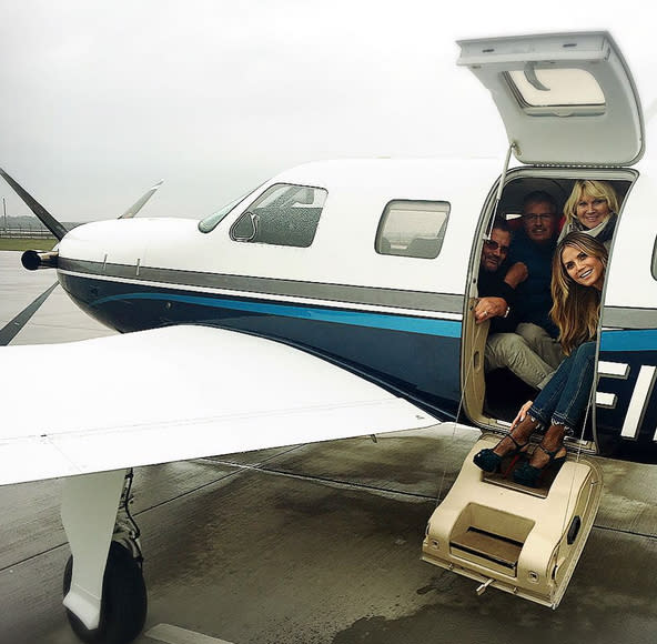 "<p>No accomodations are too small for Heidi Klum when it comes to her loved ones — she piled her fam into a propeller plane in Germany! ""<span>Good to be home with Mom …Dad…and my brother Michael</span>,"" she wrote. (Photo: <a rel=""nofollow"" href=""https://www.instagram.com/p/BMbdvEmATrg/"">Heidi Klum via Instagram</a>) </p>"