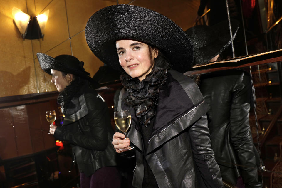 PARIS, FRANCE - 04/16/2019: Writer Amelie Nothomb poses during a portrait session in Paris, France on 04/16/2019. (Photo by Eric Fougere/Corbis via Getty Images)