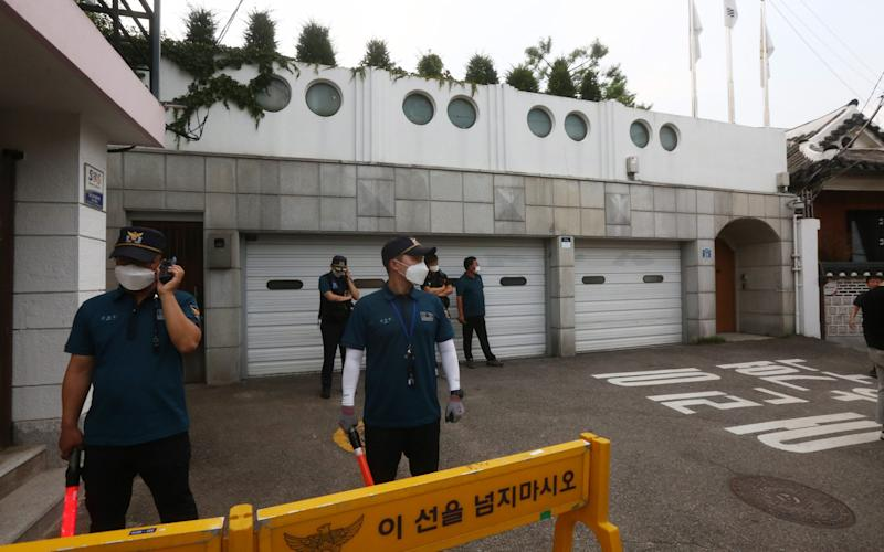 Police are also guarding Mr Park's official residence in Seoul - KIM CHUL-SOO/EPA-EFE/Shutterstock/Shutterstock