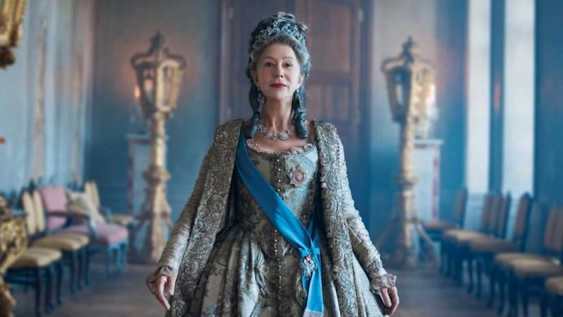 Helen Mirren plays the title role in historical drama miniseries 'Catherine the Great'. (Credit: Sky Atlantic)