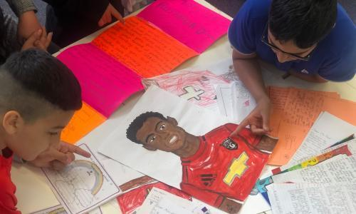 'He does not give up': how Marcus Rashford became a hero to school kids