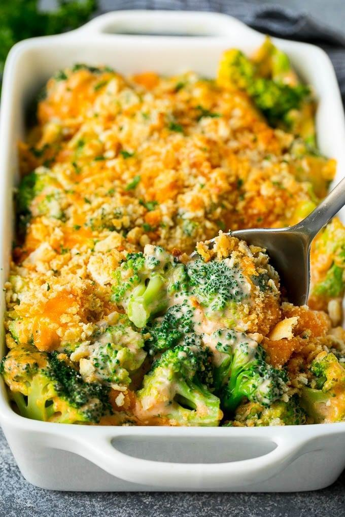 """<p>If you have picky eaters, try convincing them to eat their veggies with this <a href=""""https://www.dinneratthezoo.com/broccoli-casserole/"""" class=""""link rapid-noclick-resp"""" rel=""""nofollow noopener"""" target=""""_blank"""" data-ylk=""""slk:broccoli casserole"""">broccoli casserole</a> that's oh so delicious.</p>"""