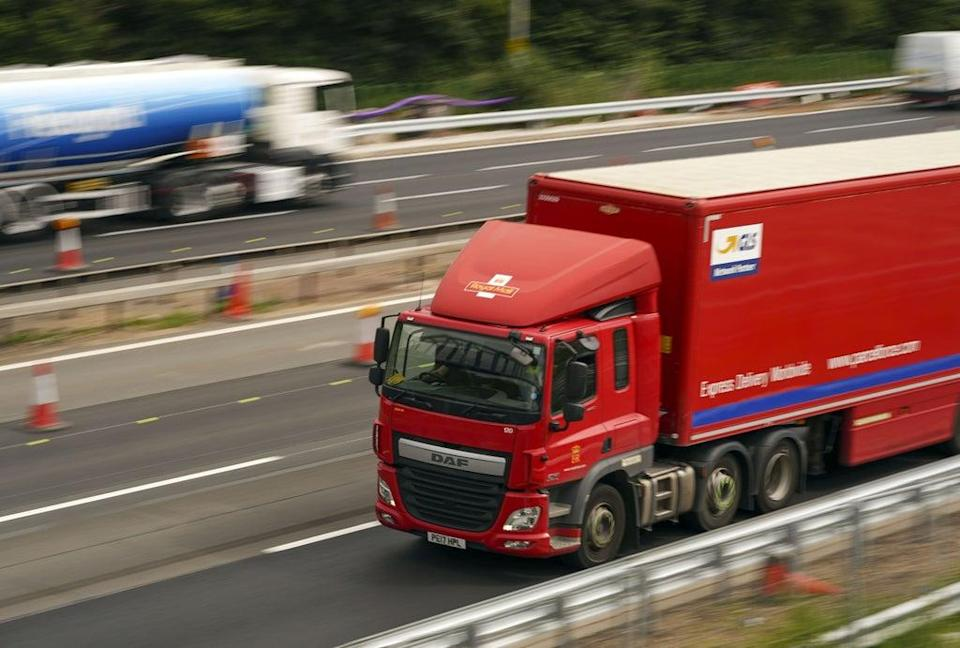 The UK Government is said to be considering a temporary visa scheme to boost the number of HGV drivers (Steve Parsons/PA) (PA Wire)