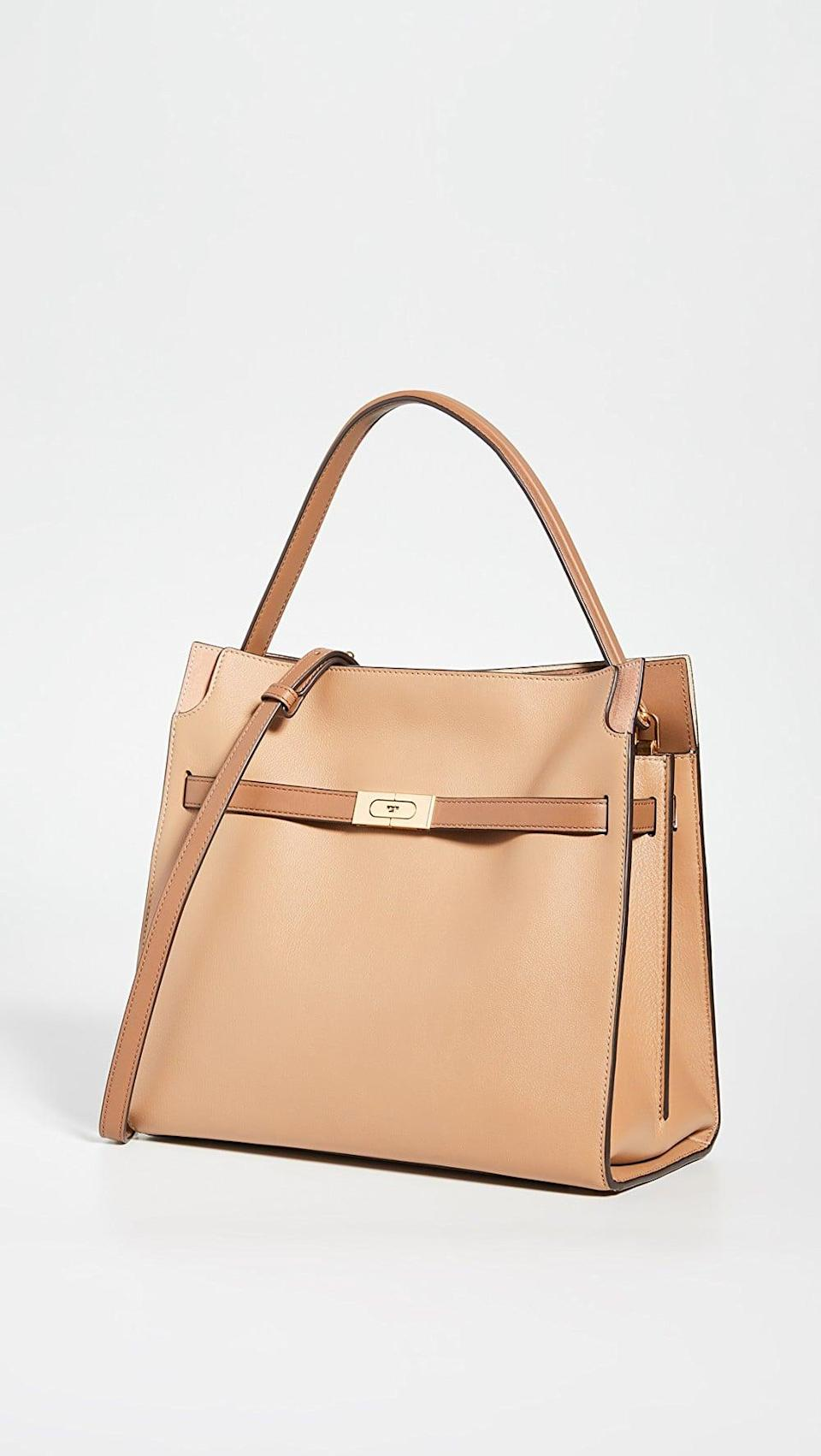 <p>This <span>Tory Burch Lee Radziwill Double Bag</span> ($998) will make you feel like a boss.</p>