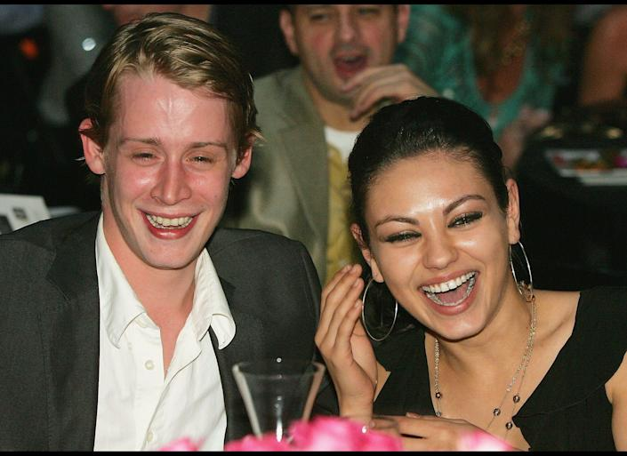 "It seems like ages ago, but <a href=""http://www.huffingtonpost.com/2011/01/03/its-over-mila-kunis-and-macauley-culkin-breakup_n_803457.html"" rel=""nofollow noopener"" target=""_blank"" data-ylk=""slk:Kunis split from rumored fiance Culkin"" class=""link rapid-noclick-resp"">Kunis split from rumored fiance Culkin</a> only last year, in September 2011. They began dating in 2002."