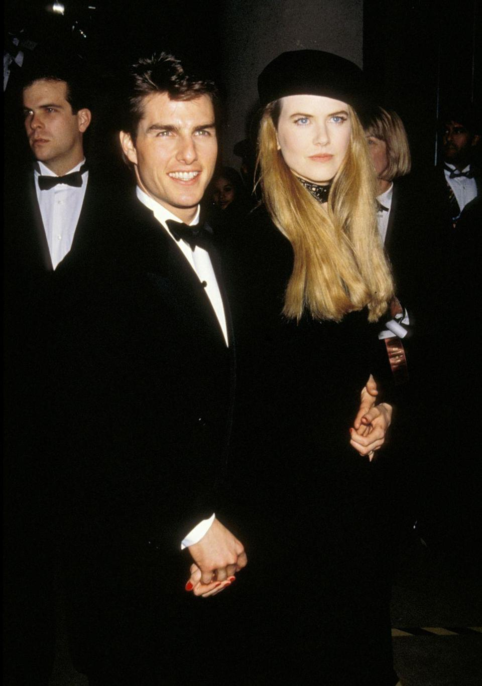 <p>The actress topped her all-black-everything look with a beret in 1993. </p>