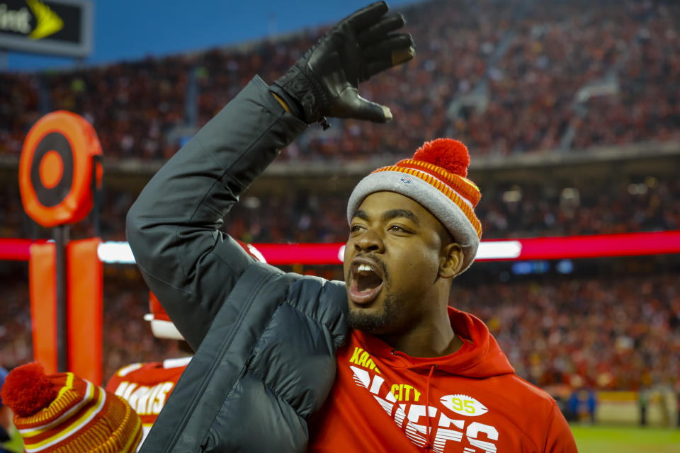 Chris Jones and the Kansas City Chiefs agreed to a huge extension. (Photo by David Eulitt/Getty Images)