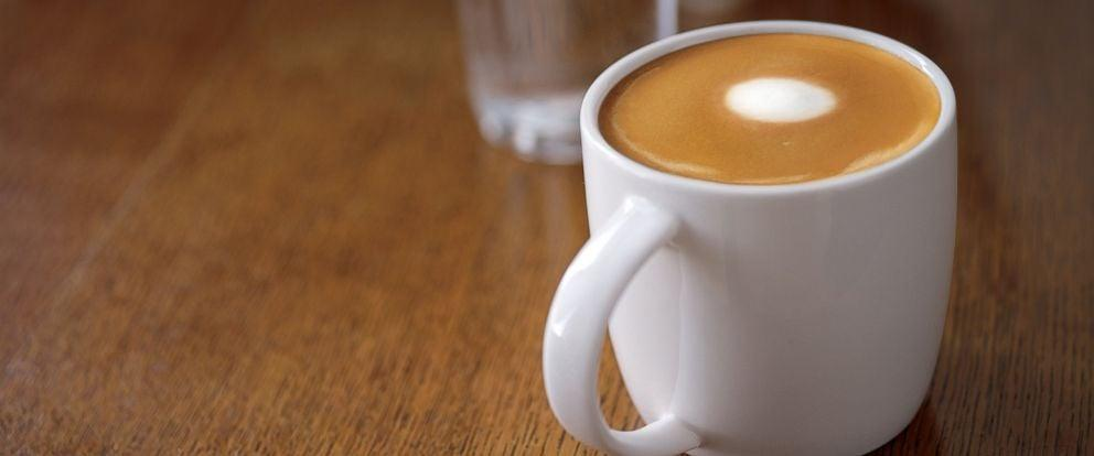 <p><strong>What's in it:</strong> Espresso with steamed milk. A flat white is similar to a cappuccino but without the foam on top.<br> <strong>How much caffeine:</strong> 130 milligrams for a tall. </p>
