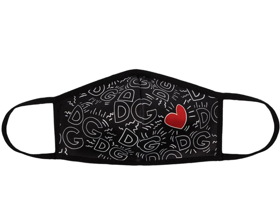 Dolce & Gabbana Heart Monogram-Print Face Mask (Photo via Farfetch)