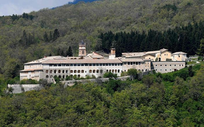 The Trisulti monastery in the mountains south of Rome - AFP