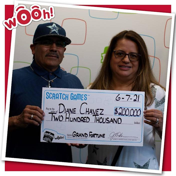 An Idaho couple won two lottery prizes in the past year.