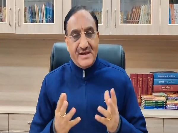 Union Minister for Education Ramesh Pokhriyal 'Nishank' (Credit: Twitter)