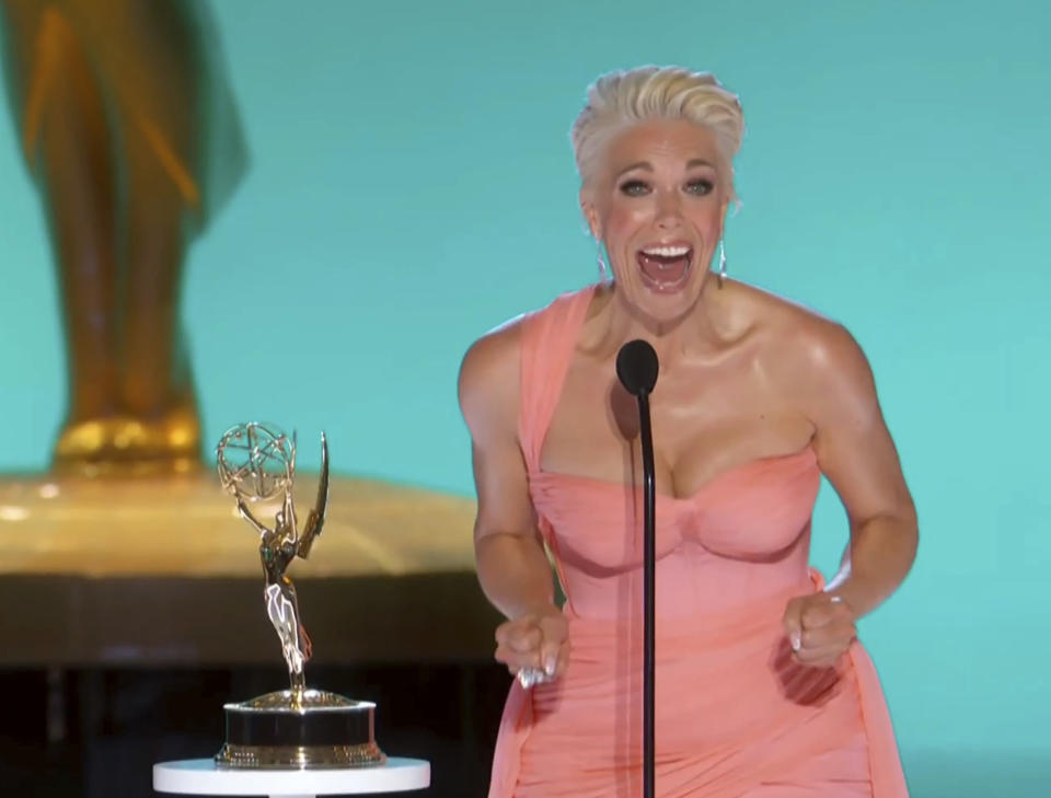 Hannah Waddingham accepted the award for outstanding supporting actress in a comedy series