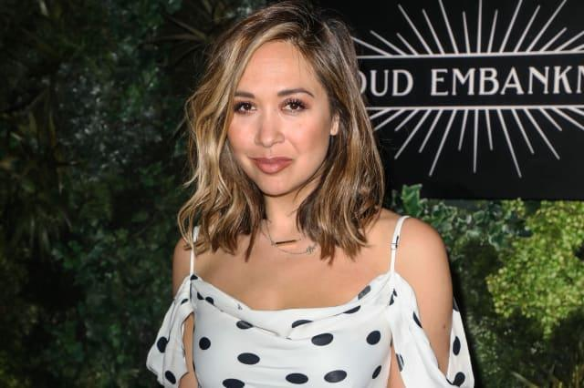 Myleene Klass seen arriving at Proud Embankment to watch...
