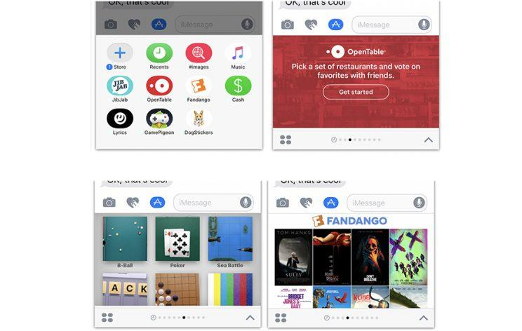 Apps within Messages. Get used to it.
