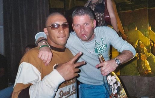Nevin Shapiro and a second source said this photo of the booster and Kellen Winslow Jr. was taken in Shapiro's VIP section of Opium Garden nightclub in 2003.