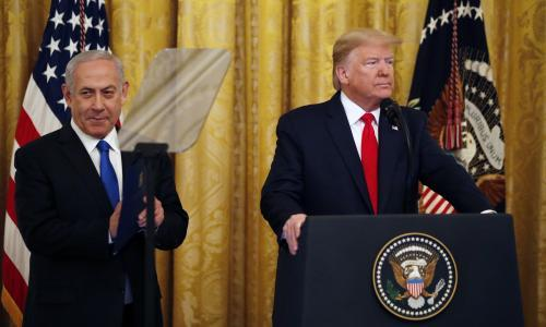 Trump unveils Middle East peace plan with no Palestinian support