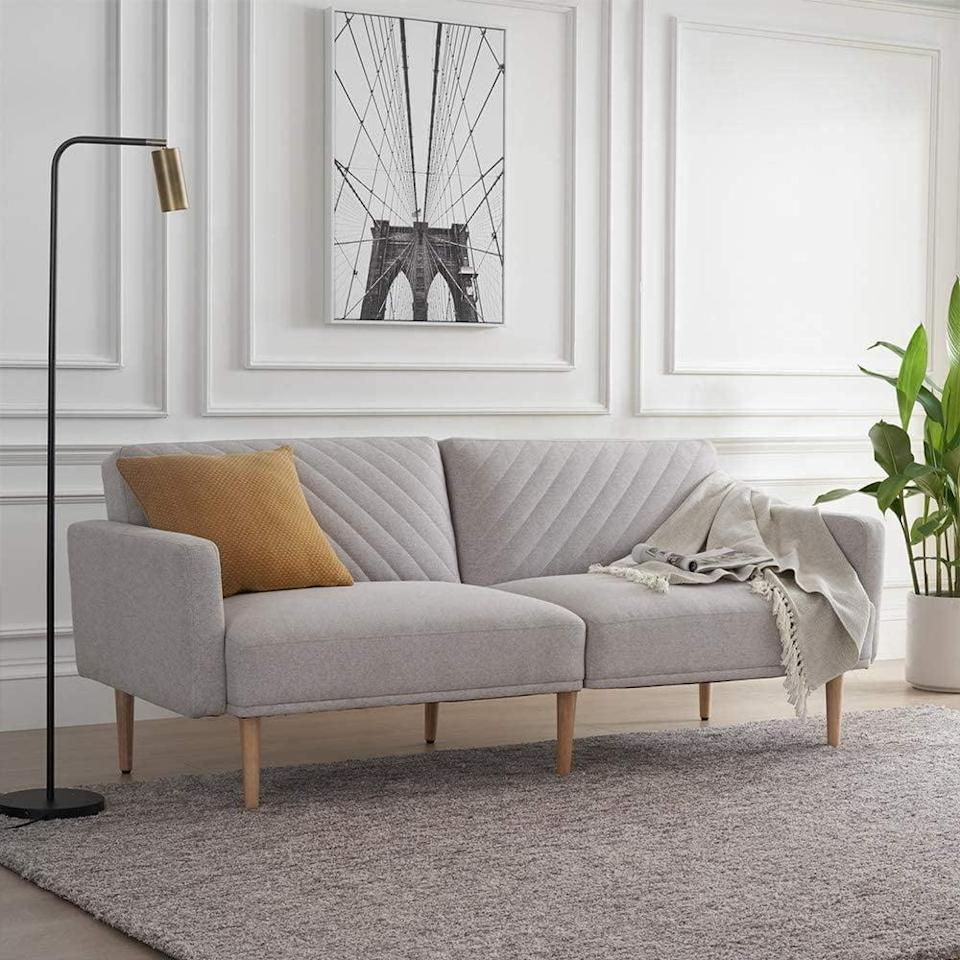 <p>This <span>Mopio Chloe Convertible Futon Couch Bed</span> ($259) is a great choice if you love minimal pieces.</p>