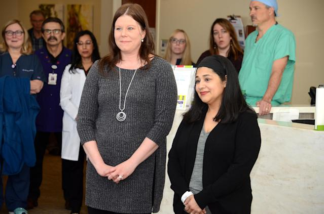Lisa Wieland and Raquel Lopez at Advocate Christ Medical Center. (Photo: Courtesy of Advocate Christ Medical Center)
