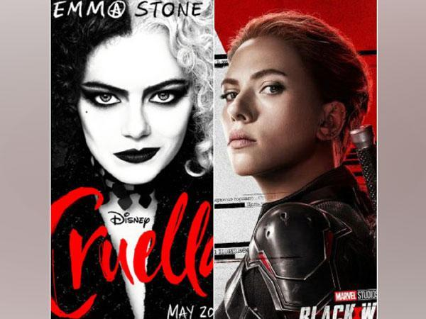 Posters of 'Cruella' and 'Black Widow' (Image Source: Twitter)