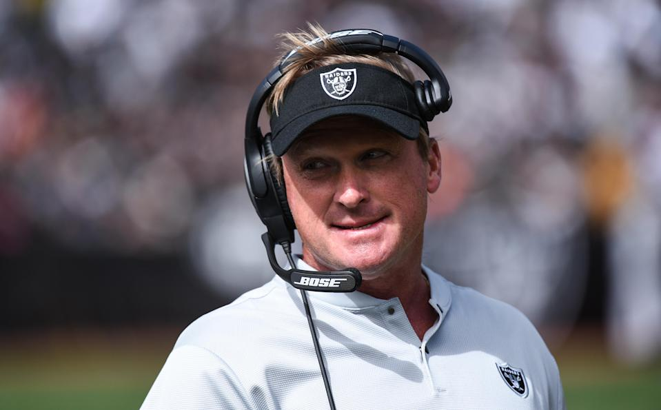 The Raiders won the first game of the new Jon Gruden era in dramatic fashion on Sunday. (Getty)