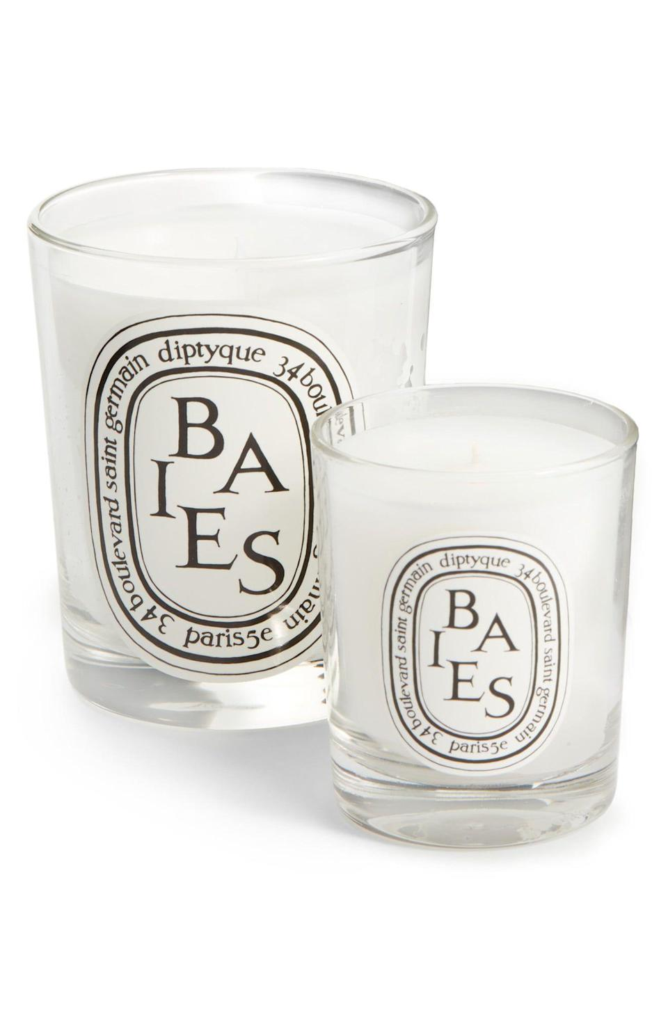 "<p><strong>DIPTYQUE</strong></p><p>nordstrom.com</p><p><strong>$36.00</strong></p><p><a href=""https://go.redirectingat.com?id=74968X1596630&url=https%3A%2F%2Fwww.nordstrom.com%2Fs%2Fdiptyque-baies-berries-candle%2F3227984&sref=https%3A%2F%2Fwww.womansday.com%2Flife%2Fg19843084%2Fgifts-for-mother-in-law%2F"" rel=""nofollow noopener"" target=""_blank"" data-ylk=""slk:Shop Now"" class=""link rapid-noclick-resp"">Shop Now</a></p><p>Surprise your mother-in-law who spoils others and never herself with the fancy, top-of-the-line candle that everyone raves about. </p>"