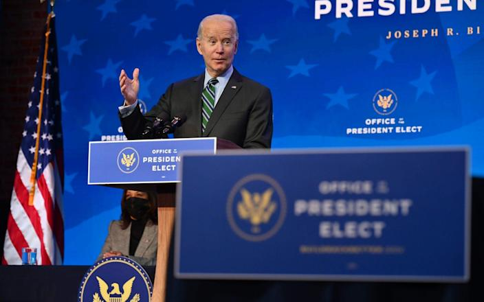 US President-elect Joe Biden introduces nominees for his science team earlier this week - AFP/AFP